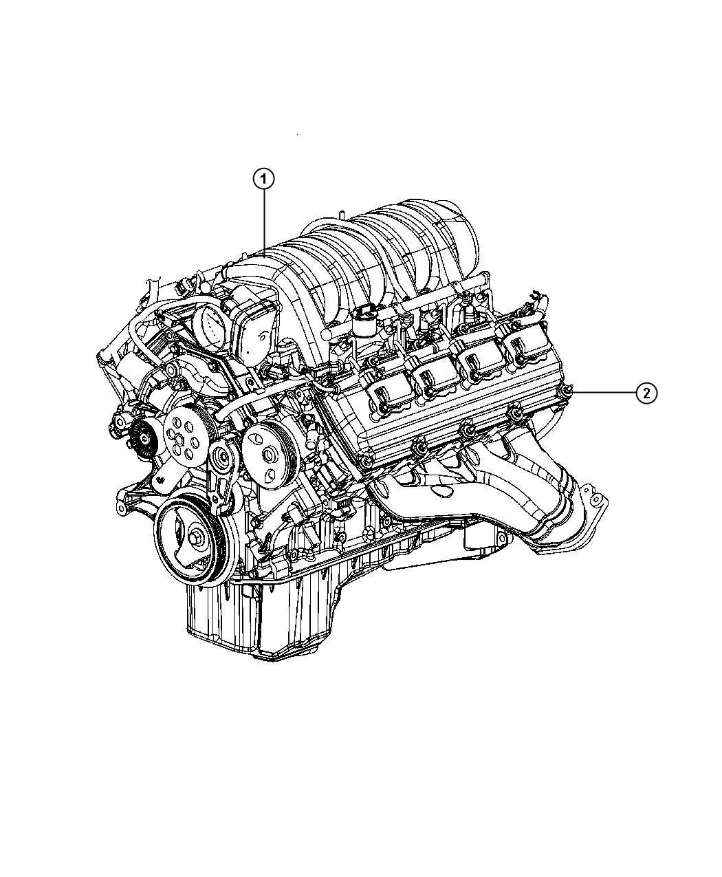 Jeep Grand Cherokee Engine Long Block Esf Service