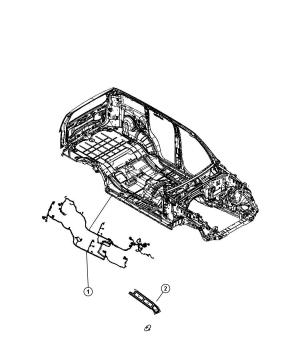 68056748AD  Jeep Wiring Body Touch, tire, subwoofer   Jeep Parts Overstock, Atlanta GA