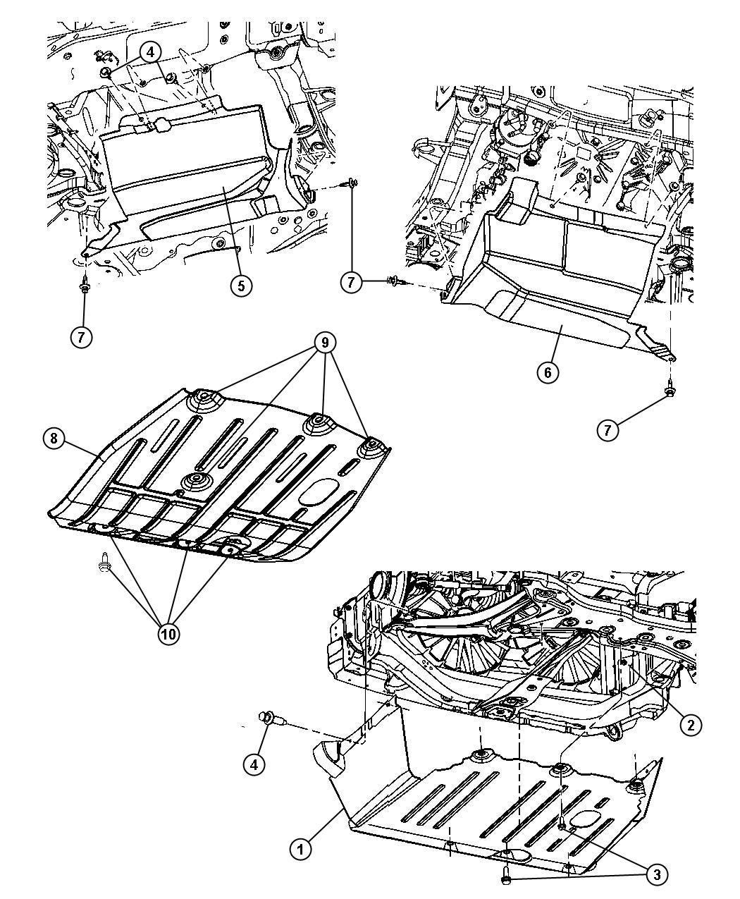 Jeep Patriot Belly Pan Front 2 2l I4 Single Td Om651