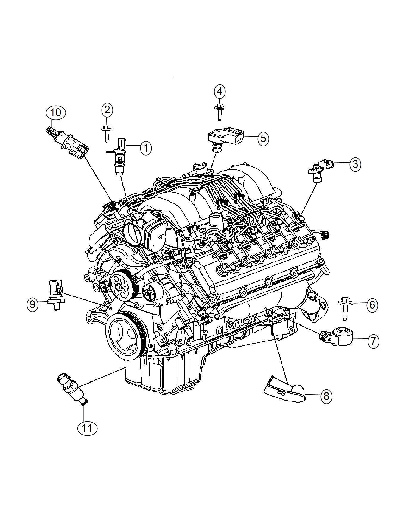 Jeep Grand Cherokee Sensor Oil Pressure Temperature