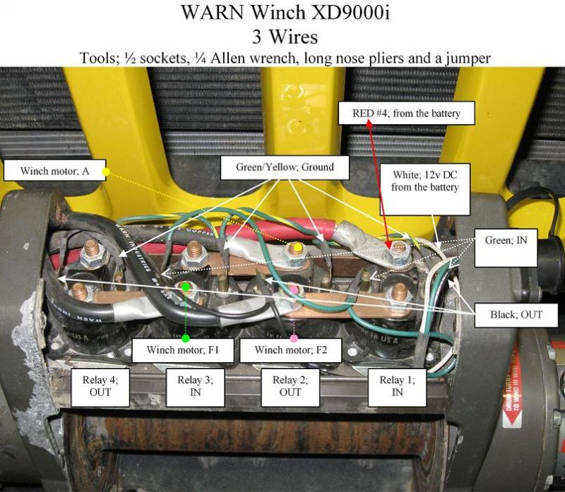 Warn Xd9000i Solenoid Wiring Diagram on
