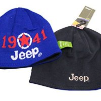Jeep 1941 Winter Thicken Polar Fleece Knit Ski Reversible Beanie Hat