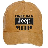 ZHENGXING Jeep Wrangler Logo Men's Cotton Washed Baseball Cap Velcro Adjustable One Size Hats Caps