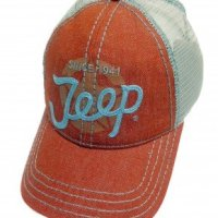 Jeep Script Denim and Mesh Hat