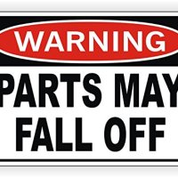 Warning Parts May Fall Off Bumper Sticker | Decal | Label 4x4 Truck Jeep Off Road