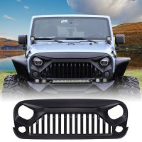 U-MAX Front Matte Black Gladiator Grid Grill for Jeep Wrangler JK 2007-2017 (Fury Monster)