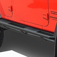 WILLIS Aircraft Aluminum Off-Road Black Side Steps Armor For 07-17 Jeep Wrangler JK 4-Door Nerf Bars Running Boards
