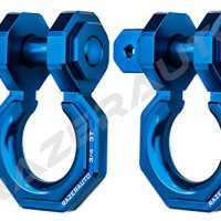 "Razer Auto Falcon X Precision Blue Billet Aluminum 3.0 Ton D-Ring Bow Shackle 1 Pair 3/4"" - Rugged 3.0 Ton Capacity (Blue)"