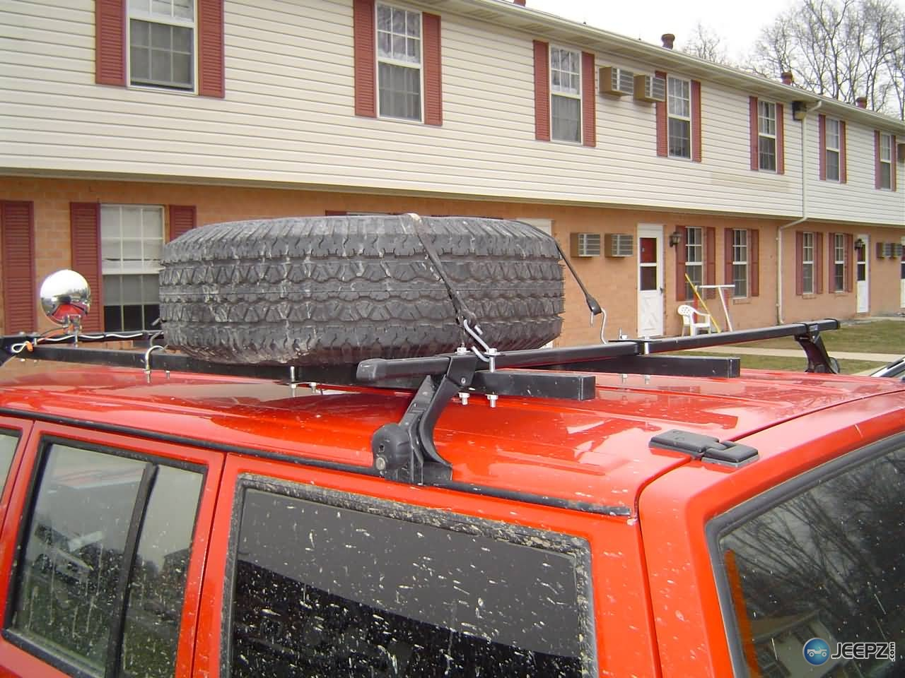 thule roof rack with home made spare
