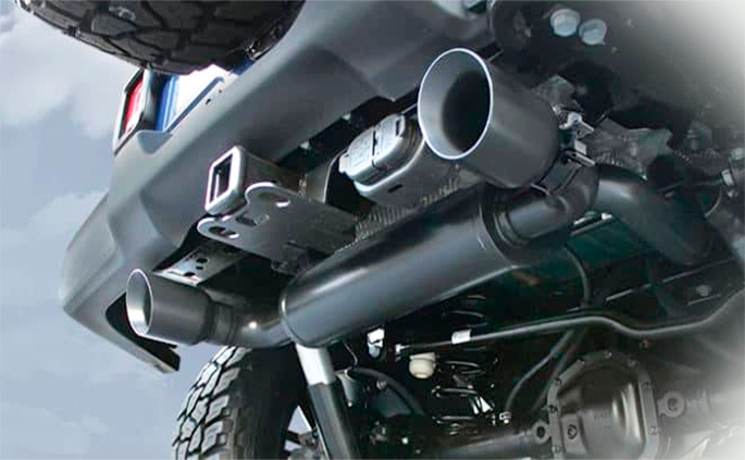 top exhaust system for jeep wrangler jk