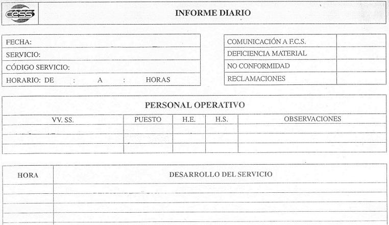 El Informe de incidencias: Su redacción. – JEFE DE SEGURIDAD