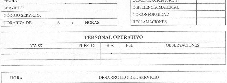 el informe de incidencias su redacción jefe de seguridad