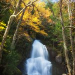 New England photography of Moss Glen Falls in the fall colors