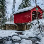 New England Photography of Moseley covered bridge
