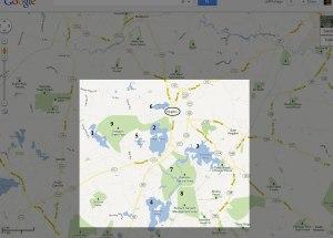 Map of Kingston NH