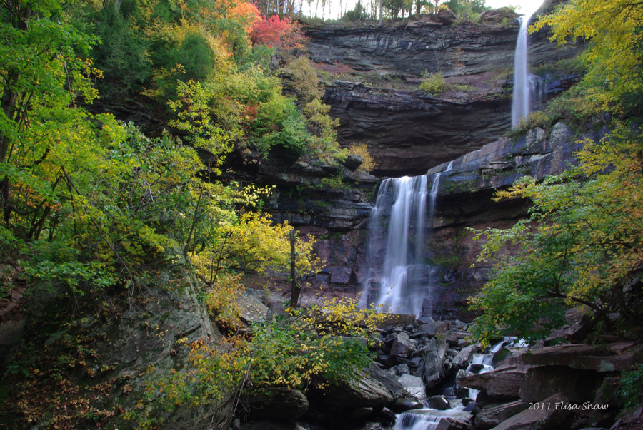 Kaaterskill Falls is a two-drop waterfall located in the eastern Catskill Mountains of New York, on the north side of Kaaterskill Clove,