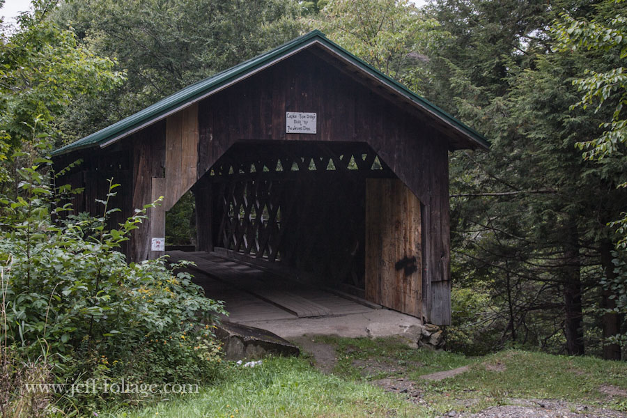 The West hill covered bridge also known as the Creamery covered bridge