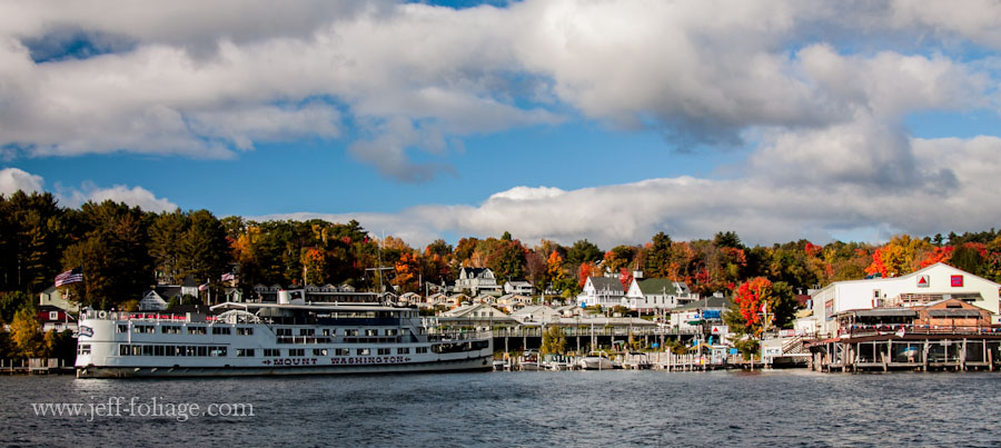the mount Washington getting ready to go out on Lake Winnipesaukee for a fall foliage run