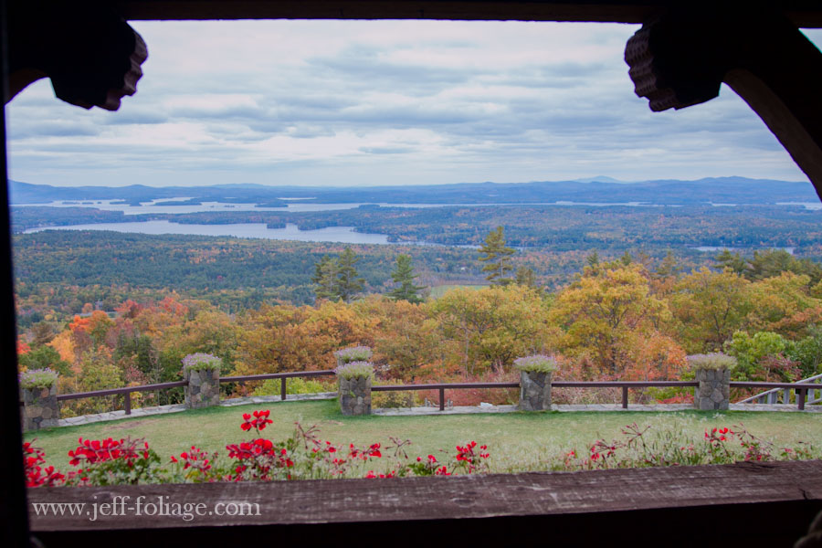 view from the Moultonborough estate called Lucknow and also known as the castle in the clouds