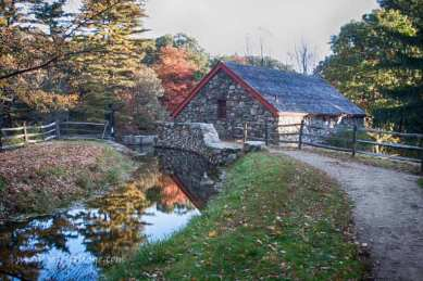 Looking down the stream that feeds the grist mill