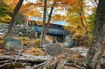 Franconia Notch State Park , Flume gorge covered bridge