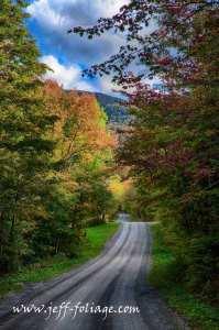 Hazen's Notch road near Montgomery Vermont 23 Sept