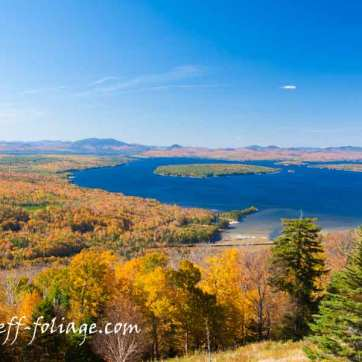 #Vistaphotography #JeffFolger, #JeffFoliage, New England fall foliage stretching as far as the eye can see in Rangeley Lake Maine
