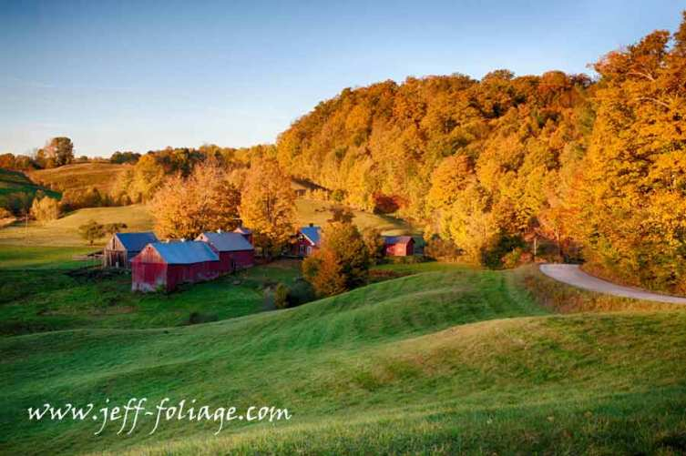 Jenne farm at dawn in October