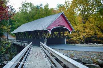 Covered bridge in Franconia's Flume Gorge