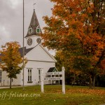 white meetinghouse in Sugar hill New Hampshire