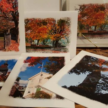 greeting card set-autumn themed