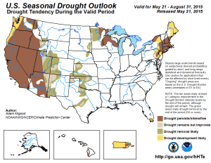 Forecasted drought by NOAA