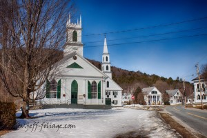 A newfane meeting house in winter