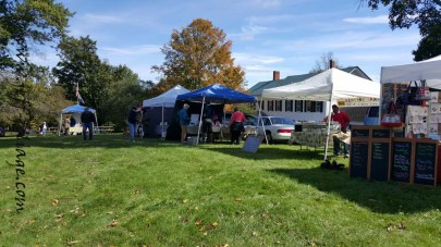 Craft tents in Peacham Vermont