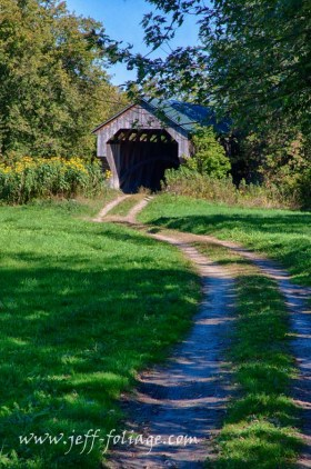 Little early fall colors at the Gates farm covered bridge