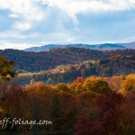 View from Cloudland road across the Vermont hillsides