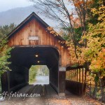 Autumn fall color over the Woodstock bridge