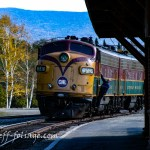 Conway scenic train pulls into Fabyans