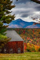 barn in front of Mount Chocorua
