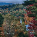 Church in autumn by Jeff Folger. A church near Tamworth New Hampshire in the fall foliage that New England is best known for. I was coming down out of the mountains above Eaton New Hampshire and this church was just peeking through the trees.