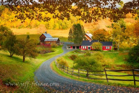 Pomfret Vermont farm in autumn