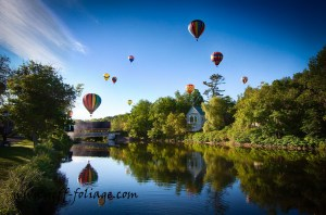 New England photography of balloons over Quechee VT