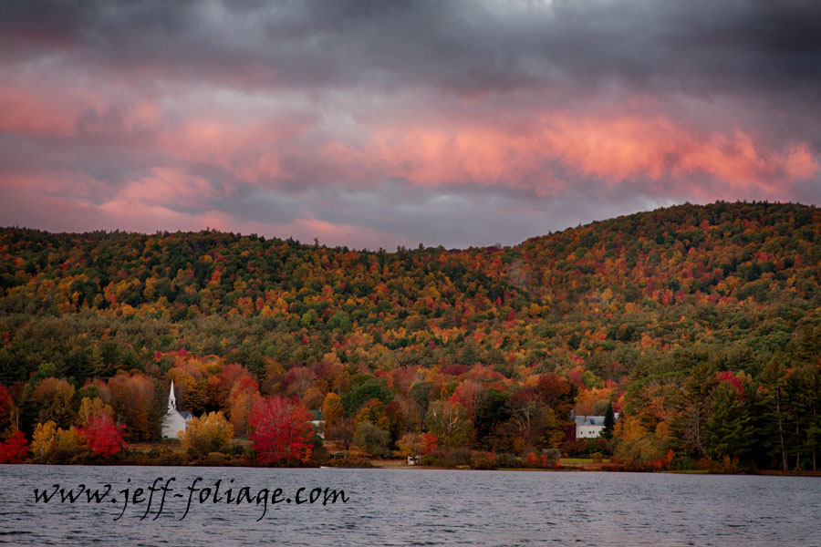New England photography of fall foliage in Eaton New Hampshire