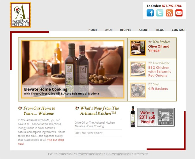 Screenshot: Artisanal Kitchen