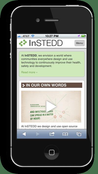 Screenshot: InSTEDD Mobile