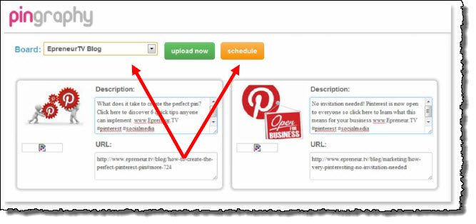 How to schedule posting pins on Pinterest