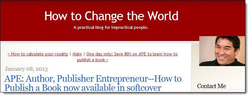 Guy Kawasaki Monetising your Blog with Speaking Case Study