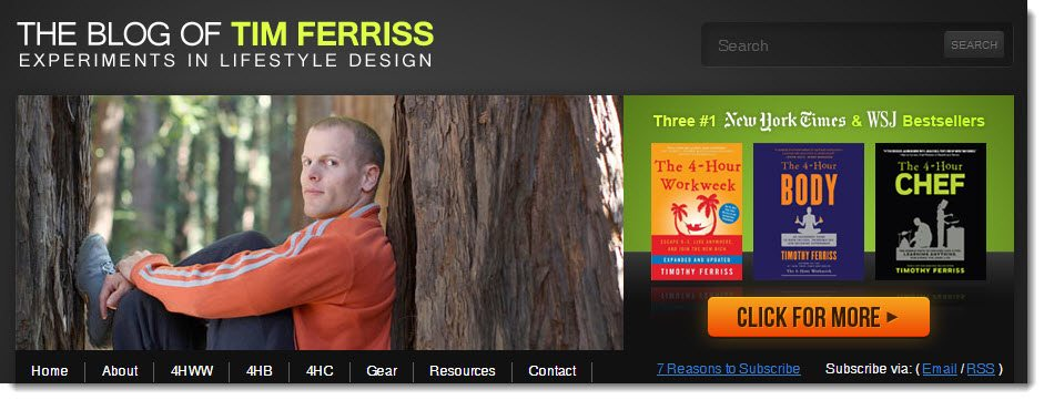 Tim Ferriss Blog Case Study in Monetising as an author