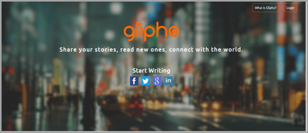 Glipho portal image for content creations apps