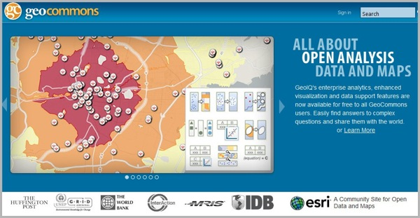 Creating infographics with Geo Commons